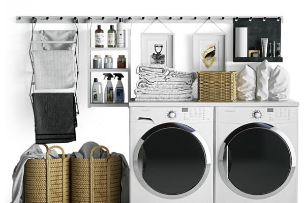 مدل سه بعدی ست ماشین لباسشویی عکس اصلی