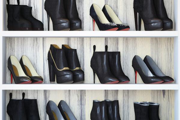 آبجکت سه بعدی مجموعه کفش های زنانه عکس اصلی