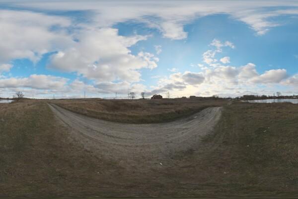 فایل HDRI آسمان دریاچه عکس اصلی