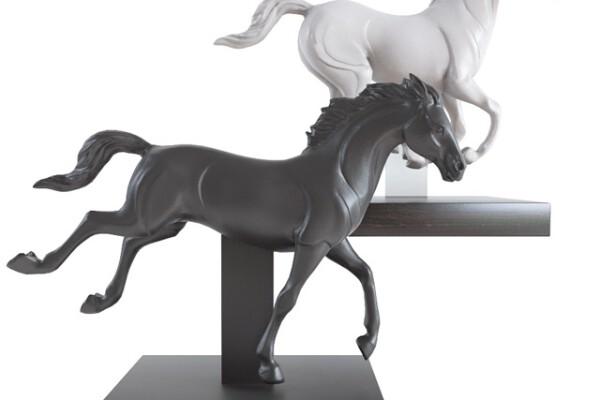 مدل سه بعدی مجسمه اسب عکس اصلی