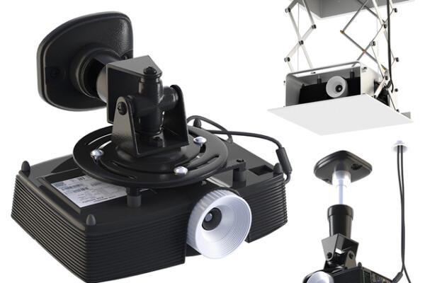 آبجکت سه بعدی پروژکتور در براکت عکس اصلی