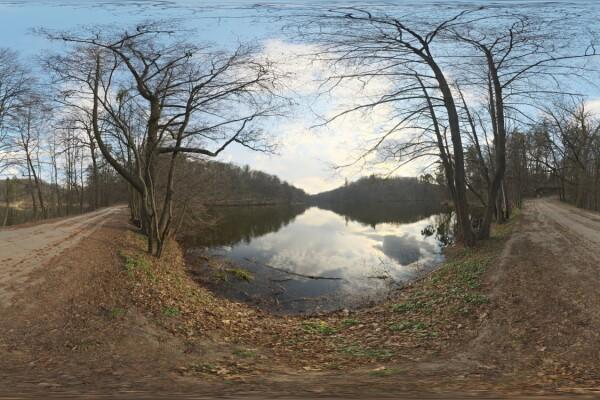 فایل HDRI طبیعت جنگل و دریاچه عکس اصلی