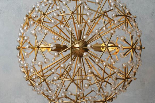 آبجک ۳ بعدی   لوستر ترکیبی گل نارون عکس اصلی