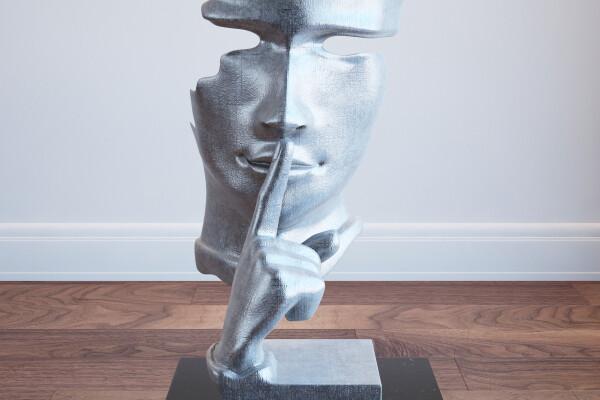 آبجکت سه بعدی مجسمه چهره عکس اصلی