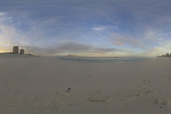فایل HDRI آسمان با طلوع آفتاب عکس اصلی