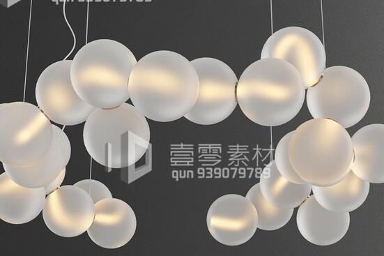 آبجکت سه بعدی  لوستر سقفی حبابی عکس اصلی