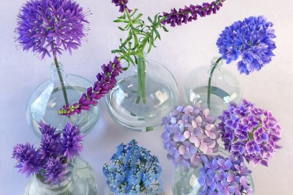 آبجکت سه بعدی ست دسته گل بهاری عکس اصلی