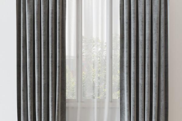 آبجکت سه بعدی پرده مدرن  خاکستری عکس اصلی