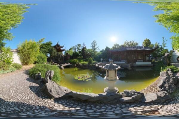 فایل HDRI باغ به سبک چین عکس اصلی