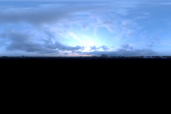 فایل hdri تکی آسمان ابری عکس اصلی