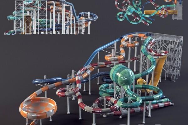 مدل سه بعدی اسباب بازی بچه تفریحات آبی عکس اصلی