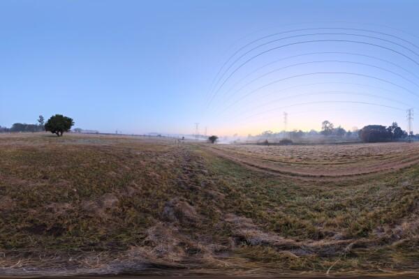 فایل HDRI خارجی سحر مه آلود عکس اصلی