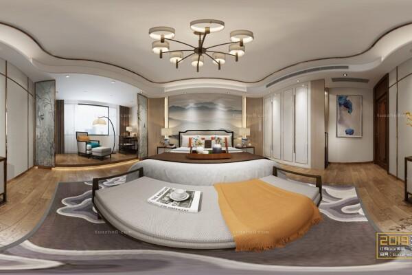 صحنه آماده اتاق خواب به سبک چینی عکس اصلی