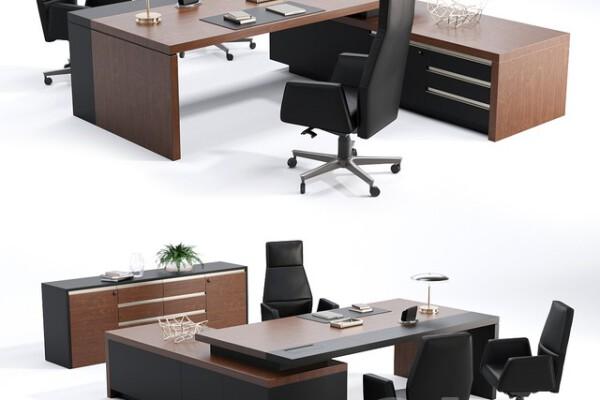 مدل سه بعدی میز و صندلی اداری عکس اصلی