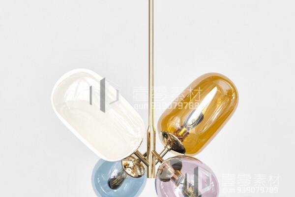 آبجکت سه بعدی  لوستر حبابی عکس اصلی