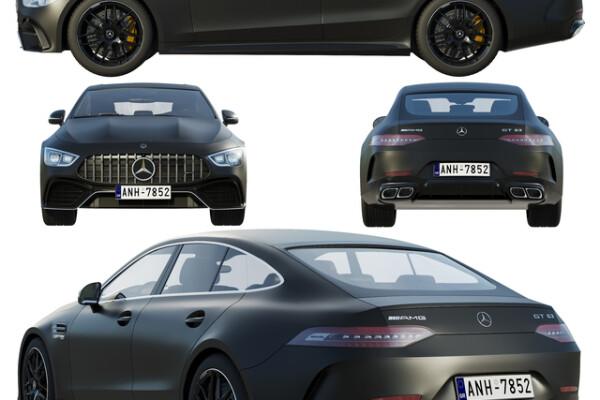 آبجکت سه بعدی اتومبیل مرسدس بنز    سیاه عکس اصلی