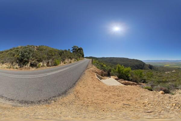 فایل HDRI آسمان و جاده در کوهستان عکس اصلی