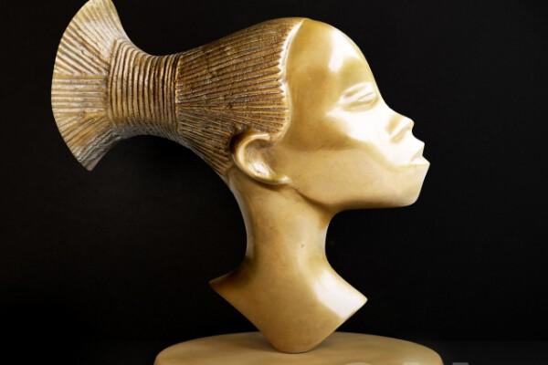 مدل سه بعدی تندیس زن آفریقایی عکس اصلی