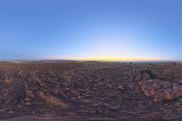 فایل HDRI آسمان در غروب آفتاب عکس اصلی