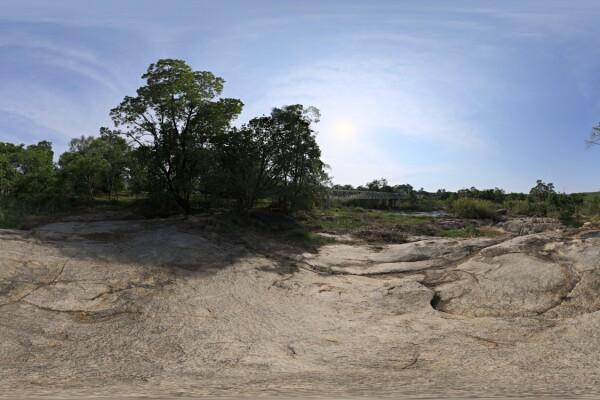 فایل HDRI صخره های کنار رودخانه عکس اصلی