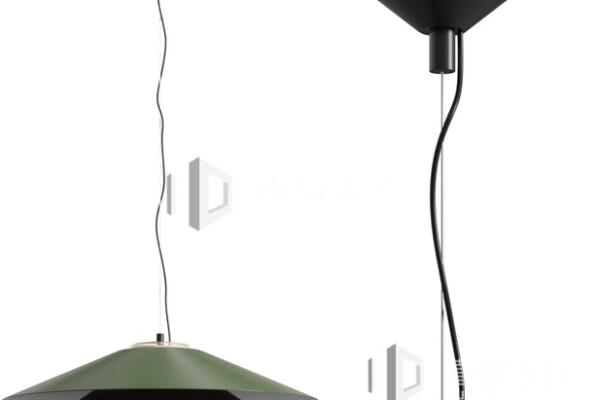 آبجکت سه بعدی چراخ سقفی با لامپ مدرن عکس اصلی
