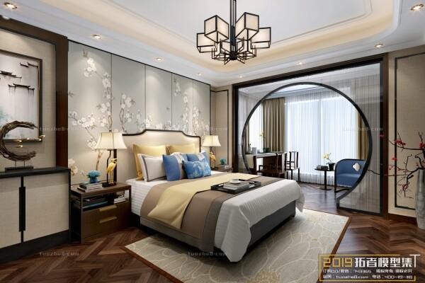صحنه اماده اتاق خواب به سبک چینی عکس اصلی