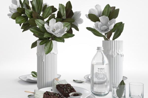 آبجکت سه بعدی دسته گل ماگنولیا عکس اصلی