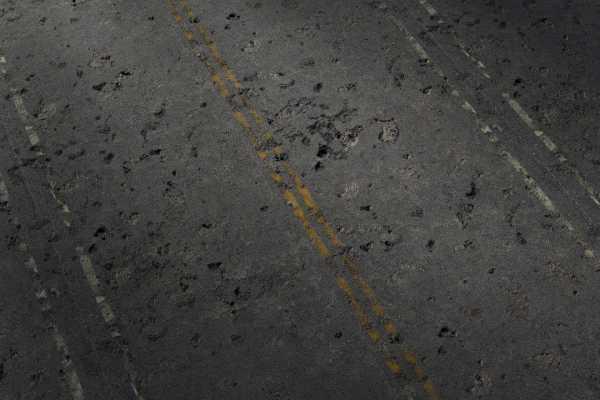 متریال آسفالت ترک خورده cracked asphalt عکس اصلی