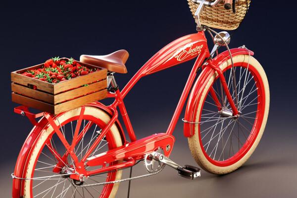 متریال دوچرخه   قرمز عکس اصلی