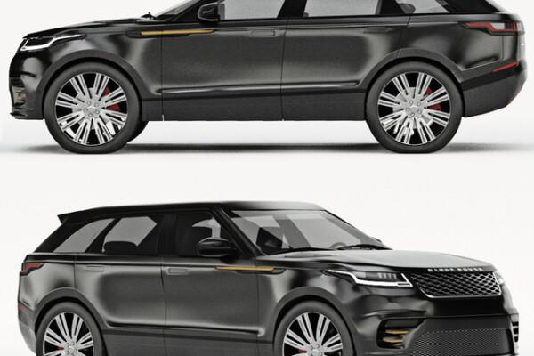 آبجکت سه بعدی اتومبیل رنج روور ولار    سیاه عکس اصلی