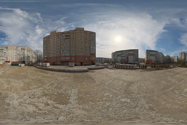 فایل HDRI خارجی ساختمان محوطه ساخت عکس اصلی