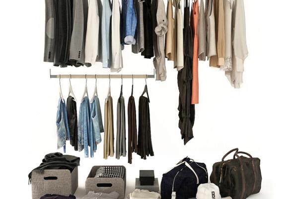 آبجکت سه بعدی مجموعه کیف و لباس و کفش عکس اصلی