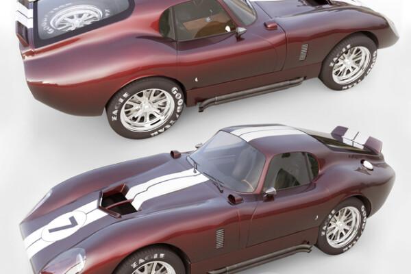 آبجکت سه بعدی اتومبیل شلبی دیتونا کبرا عکس اصلی
