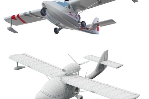 مدل سه بعدی هواپیمای دریایی عکس اصلی