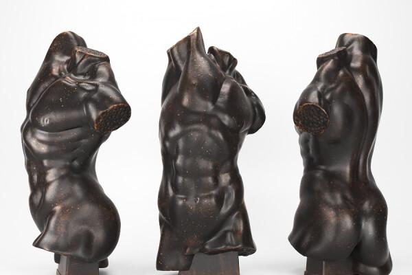 مدل سه بعدی مجسمه هنری عکس اصلی