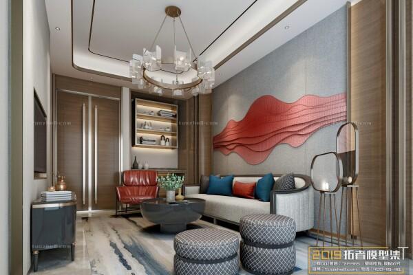صحنه های اماده اتاق نشیمن به سبک چینی عکس اصلی