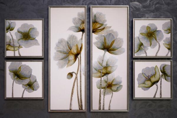 مدل سه بعدی مجموعه تابلو تصاویر گل عکس اصلی