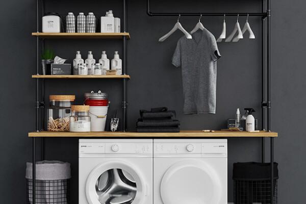 آبجکت سه بعدی ست دکور ماشین لباسشویی عکس اصلی