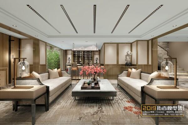 صحنه اتاق نشیمن به سبک چینی عکس اصلی