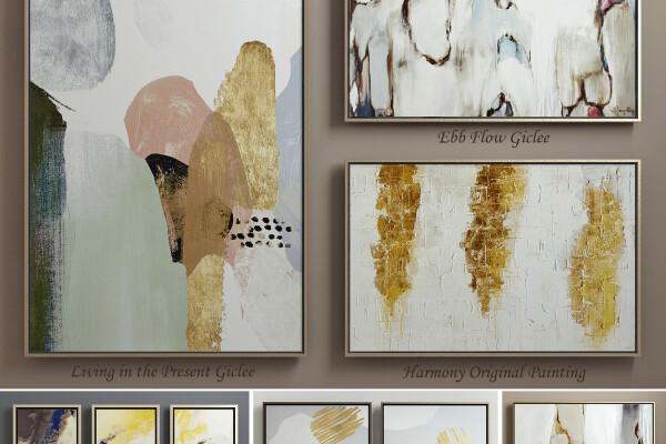 آبجکت سه بعدی مجموعه نقاشی های معاصر عکس اصلی