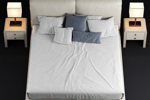 آبجکت سه بعدی  تخت خواب عکس اصلی