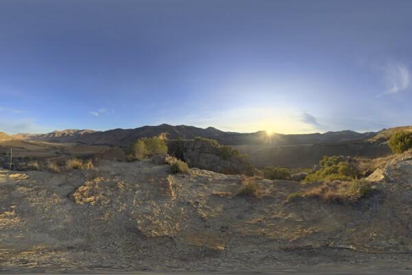 فایل HDRI آسمان با طلوع خورشید عکس اصلی