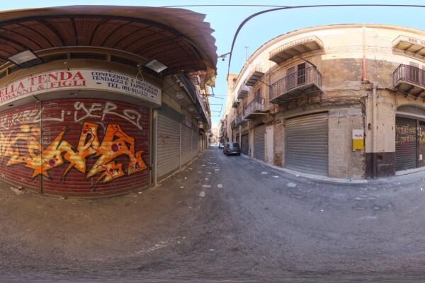 فایل HDRI خارجی اروپا کوچه شهری 01 عکس اصلی