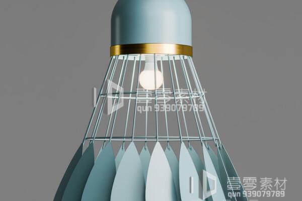 آبجکت سه بعدی  لوستر سقفی مدل بدمینتون عکس اصلی