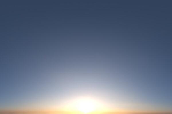 فایل hdri تکی آسمان صاف غروب عکس اصلی