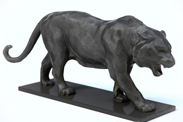 مدل سه بعدی مجسمه ببر عکس اصلی