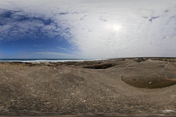 فایل HDRI آسمان ابری در ساحل عکس اصلی