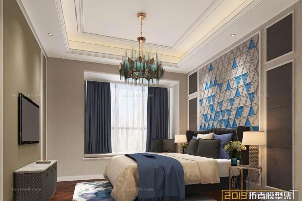 صحنه اماده اتاق خواب به سبک اروپایی عکس اصلی