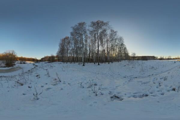 فایل HDRI زمستان با آسمان صاف عکس اصلی