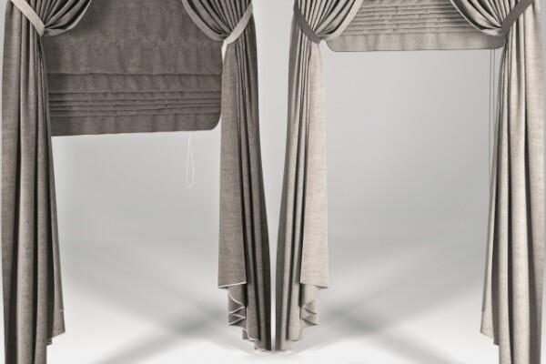 آبجکت سه بعدی پرده رومی عکس اصلی